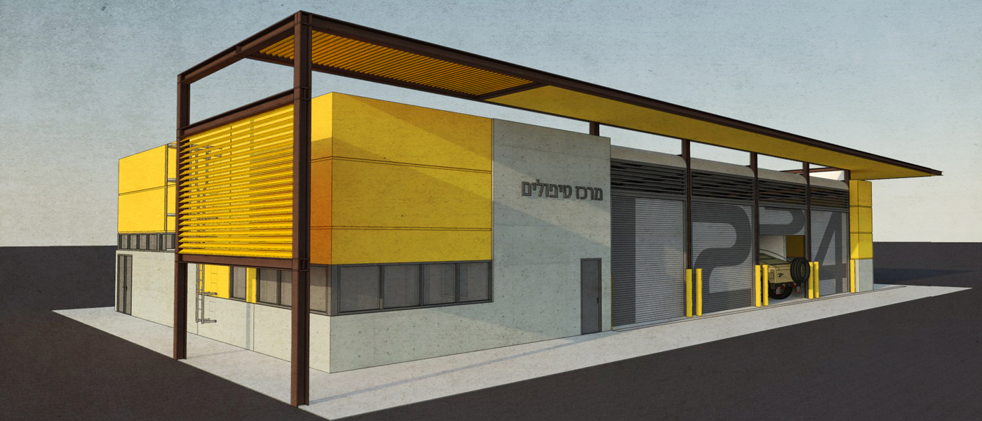 Logistics warehouse and garage structures for IDF